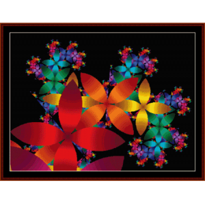 fractal 85 cross stitch pattern by cross stitch collectibles