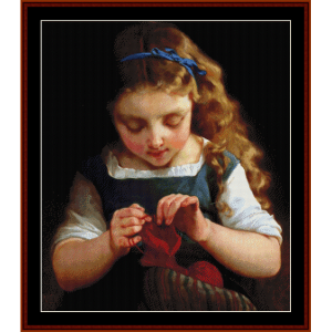 A Careful Stitch - Emile Munier cross stitch