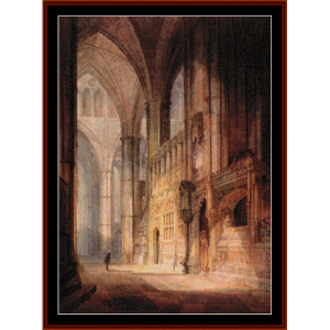 bishop islips chapel - turner cross stitch pattern by cross stitch collectibles