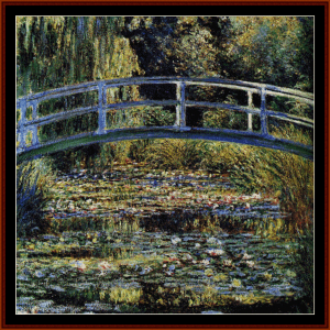 Waterlily Pond - Monet cross stitch pattern by Cross Stitch Collectibles | Crafting | Cross-Stitch | Other