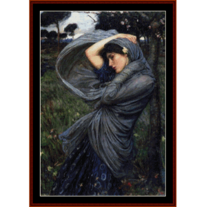 boreas - waterhouse cross stitch pattern by cross stitch collectibles