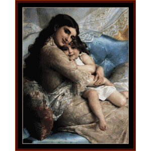 Mother and Daughter - Emile Munier cross stitch pattern by Cross Stitch Collectibles | Crafting | Cross-Stitch | Wall Hangings