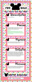 Bubble Pink Disney-Like Ebay Template by SCTRADEKAT | Other Files | Patterns and Templates
