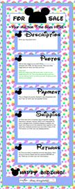 Bubble Blue Disney-Like Ebay Template by SCTRADEKAT | Other Files | Patterns and Templates