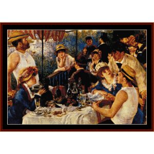 luncheon of the boating party - renoir cross stitch pattern by cross stitch collectibles