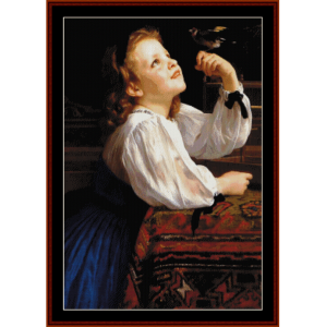 Dear Bird - Bouguereau cross stitch pattern by Cross Stitch Collectibles | Crafting | Cross-Stitch | Other