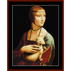 lady with ermine- davinci cross stitch pattern by cross stitch collectibles