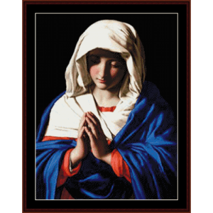 the virgin in prayer - religious cross stitch pattern by cross stitch collectibles