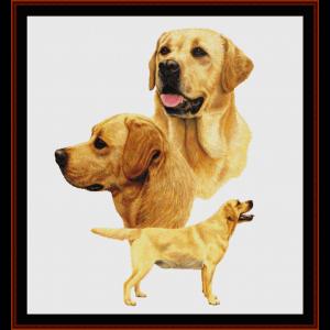 Labradors - Robert J. May cross stitch pattern by Cross Stitch Collectibles | Crafting | Cross-Stitch | Wall Hangings