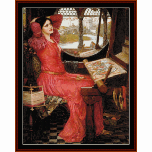 half sick of shadows - waterhouse cross stitch pattern by cross stitch collectibles