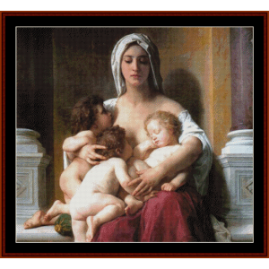 Charity - Bouguereau cross stitch pattern by Cross Stitch Collectibles | Crafting | Cross-Stitch | Other