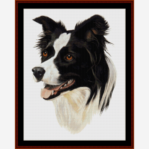 Border Collie - Robert J. May cross stitch pattern by Cross Stitch Collectibles | Crafting | Cross-Stitch | Wall Hangings