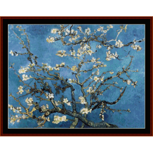 branches with almond blossoms - van gogh cross stitch pattern by cross stitch collectibles