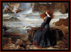 the tempest - waterhouse cross stitch pattern by cross stitch collectibles