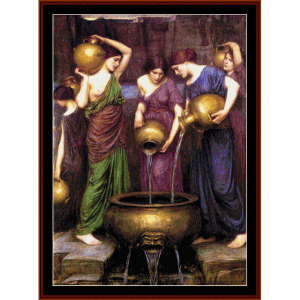 The Danaides - Waterhouse cross stitch pattern by Cross Stitch Collectibles | Crafting | Cross-Stitch | Wall Hangings