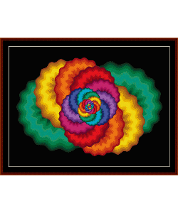 fractal 56 cross stitch pattern by cross stitch collectibles