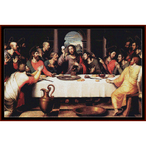 the last suppper iv - religious cross stitch pattern by cross stitch collectibles