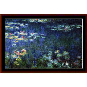 Water Lilies - Monet cross stitch pattern by Cross Stitch Collectibles | Crafting | Cross-Stitch | Wall Hangings