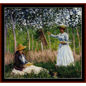 In the Woods - Monet cross stitch pattern by Cross Stitch Collectibles | Crafting | Cross-Stitch | Wall Hangings