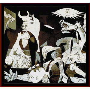 guernica - picasso cross stitch pattern by cross stitch collectibles