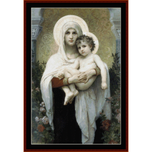 Madonna of the Roses - Bouguereau cross stitch | Crafting | Cross-Stitch | Wall Hangings
