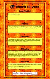 Check it Out! Halloween Spiderweb Ebay Template by SCTRADEKAT | Other Files | Patterns and Templates