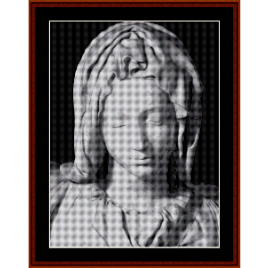 pieta madonna - michelangelo cross stitch pattern by cross stitch collectibles