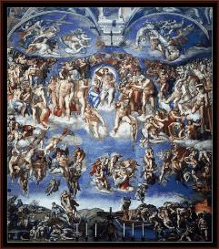 last judgment - michelangelo cross stitch pattern by cross stitch collectibles