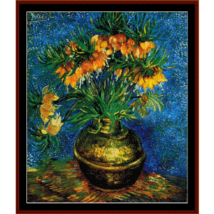 Still Life with Frutillarias - Van Gogh cross stitch pattern by Cross Stitch Collectibles | Crafting | Cross-Stitch | Other