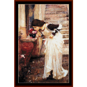 At the Shrine - Waterhouse cross stitch pattern by Cross Stitch Collectibles | Crafting | Cross-Stitch | Wall Hangings