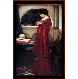 crystal ball - waterhouse cross stitch pattern by cross stitch collectibles