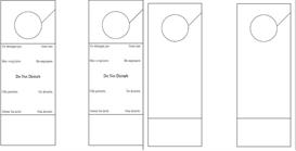 Blank and Do Not Disturb door hanger templates | Other Files | Patterns and Templates