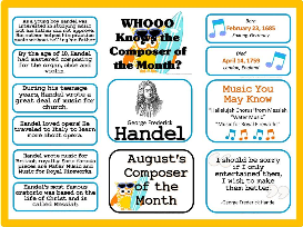 handel composer of the month (august) bulletin board kit