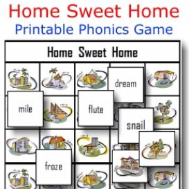 home sweet home phonics game