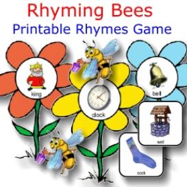 rhyming bees fun prek-k set