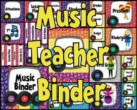music teacher binder covers and labels