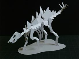 Stegosaurus Skeleton - EasyCutPopup | eBooks | Arts and Crafts