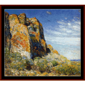 harney desert - childe-hassam cross stitch pattern by cross stitch collectibles