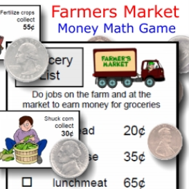 farmers market -- money math fun