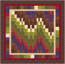 easy bargello throw quilt