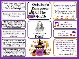 bach composer of the month (october) bulletin board