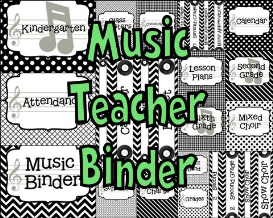 music teacher binder covers and labels black and white patterns design