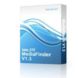 MediaFinder V1.3 | Software | Utilities