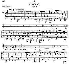 Abschied D.957-7, Medium Voice in C Major. F. Schubert | eBooks | Sheet Music