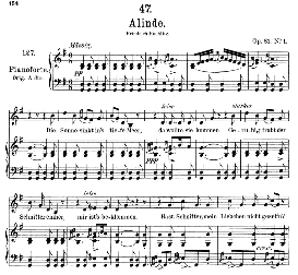 Alinde D.904, Medium Voice in G Major, F. Schubert. | eBooks | Sheet Music
