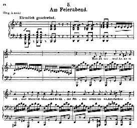 Am Feierabend, D.795-5, Medium Voice in G Minor, F. Schubert (Die Schöne Mullerin), C.F. Peters. | eBooks | Sheet Music