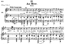 Am Meer D.957-12, High Voice in B Flat Major, F. Schubert (Schwanengesang), C.F. Peters. | eBooks | Sheet Music