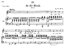 An die Musik D.547 in C Major, Medium Voice. F. Schubert | eBooks | Sheet Music