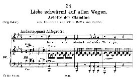 Claudine D.239-6 Liebe schwärmt auf allen Wegen, Medium Voice in B Flat Major, F. Schubert | eBooks | Sheet Music