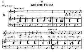 Auf dem Flusse D.911-7, Medium Voice in D Minor, F. Schubert (Winterreise) Pet. | eBooks | Sheet Music